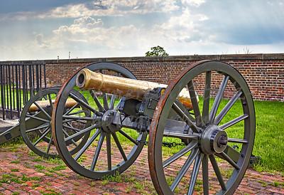Cannons at Fort Washington