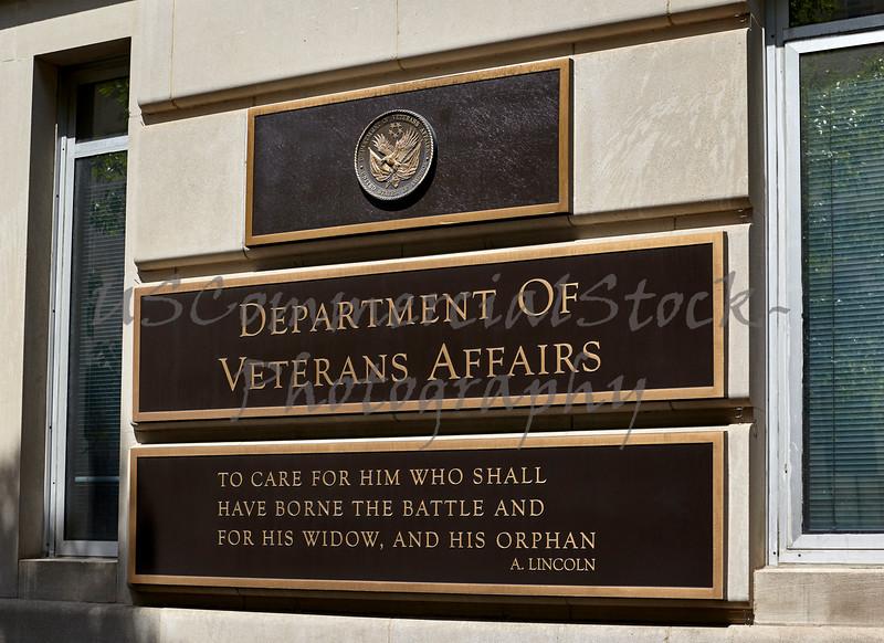 Department of Veterans Affairs Building Sign