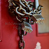 Chain and locks on closed business doors