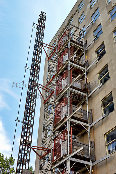 Scaffolding System on a High Rise Building