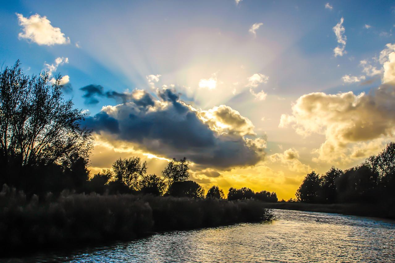 Fens at Sunset, Cambridgeshire
