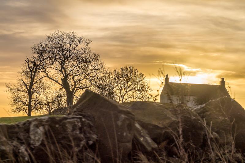 Sunrise in Fife, Scotland