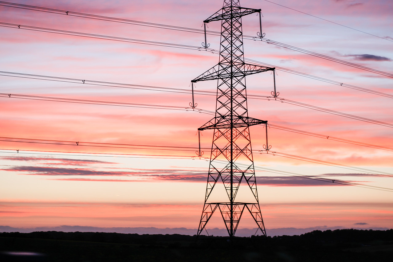 Powerful  Sunset National Grid