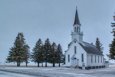 Lone Rock Church Near Flandreau, IA