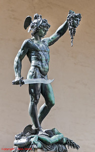 Perseus with the Head of Medusa  10 ft high bronze by Benvenuto Cellin - Florence