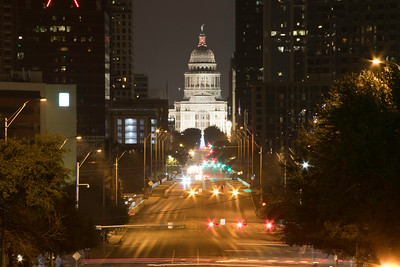 Austin Texas Capitol at night