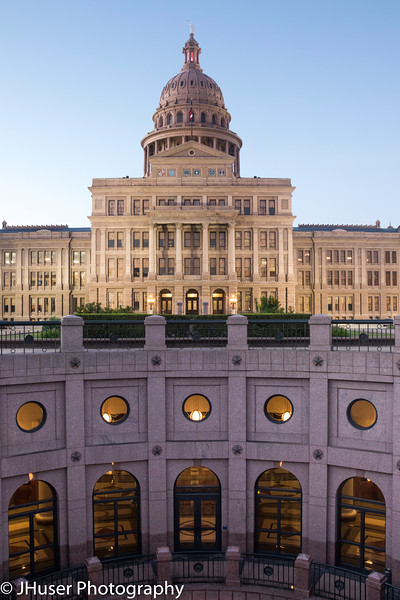 The North side of the Texas State Capitol