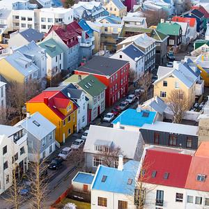 Colourful Houses of Reykjavik Iceland