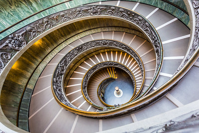Exit Stairway Vatican Museums Rome