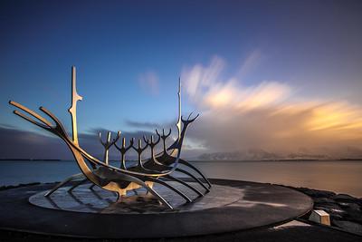 Sun Voyager Statue, Reykjavik