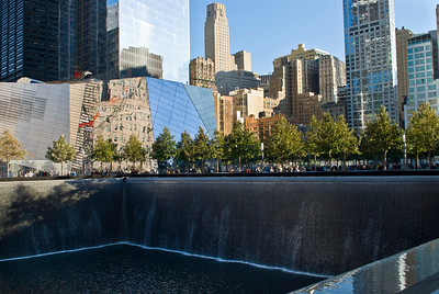 NEW YORK - OCTOBER 6: A view of the 9/11 Memorial Park still under construction on October 6, 2011.