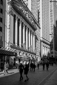 Wall St View Black and White