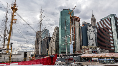 Tall Ship and Skyscrapers