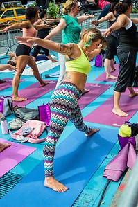 Yoga Stretching Times Square