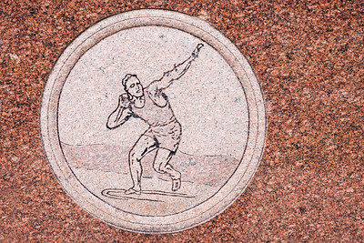 Jim Thorpe Grave Engavings Shot Put