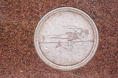 Jim Thorpe Grave Engavings High Jump