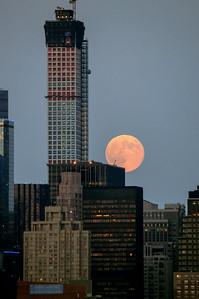 Skyscraper and Big Moon