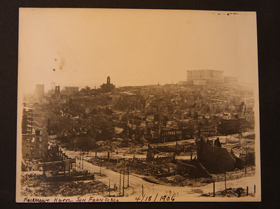 Fairmont Hotel San Francisco 4/18/1906 after the earthquake and fire