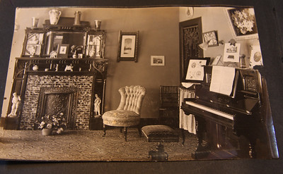 "written on the back ""A corner in the parlor"""