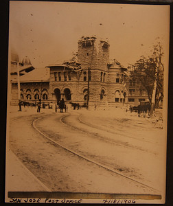 San Jose Post office 4/18/1906 after earthquake