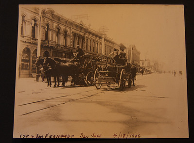 1st & San Fernando streets  San Jose 4/18/1906 after the earthquake