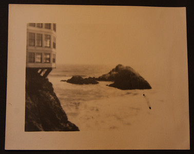 Cliff House and Seal Rocks at Ocean Beach in San Francisco 4/18/1906 after the earthquake and fire