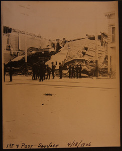 1st & Post streets  San Jose 4/18/1906 after the earthquake