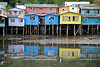 Castro, Chiloe, Chile.  Stilt houses (palafitos)