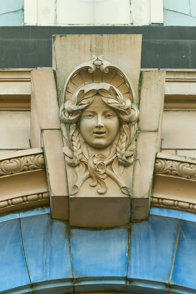 Architectural detail Adelphi Theatre, Attercliffe Road, Sheffield. Built 1920 by architect William C. Fenton