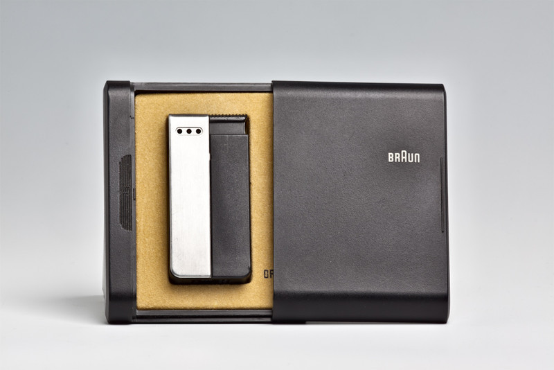 Duo pocket lighter, made by Braun, designed by Busse Design Ulm, 1977