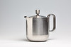 "Stainless steel teapot in the ""Mercury"" pattern, designed by David Mellor, 1965, and made by Elkington"