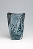 "Whitefriars spiral twist vase in ""Polar Ice"" colour, designed 1950s by William Wilson"
