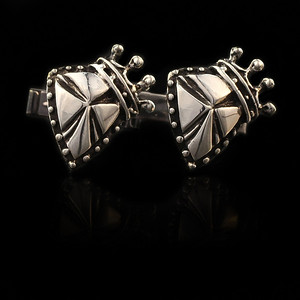 Shield and Crown cufflinks
