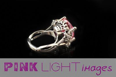 Deborah Ring - pink stone side shot.