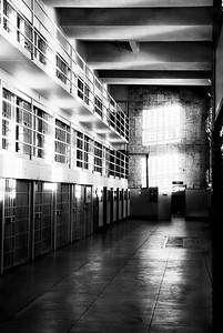 Alcatraz - Cell Block in B&W