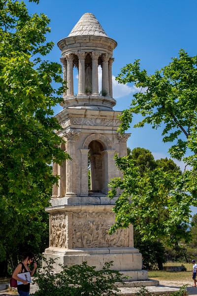 Mausoleum of Glanum, an ancient Roman town