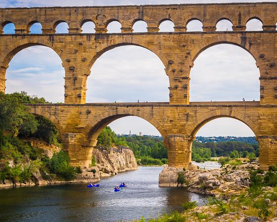 Kayaking under Pont du Gard