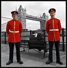 Tower Bridge and guards