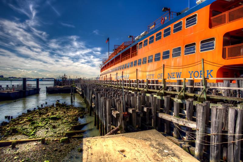 Staten Island Ferry Docked In Manhattan