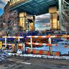 Train Station Over Gowanus Canal