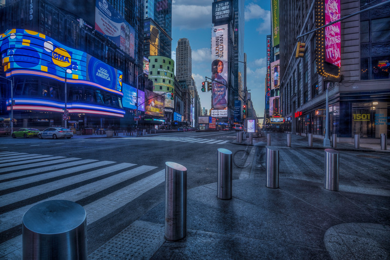 Pylons In Times Square