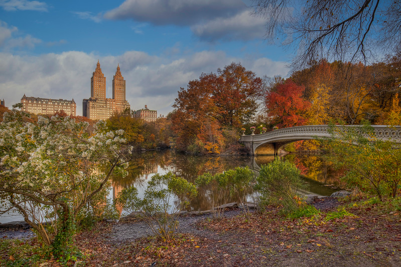 Bow Bridge And San Remo In Central Park
