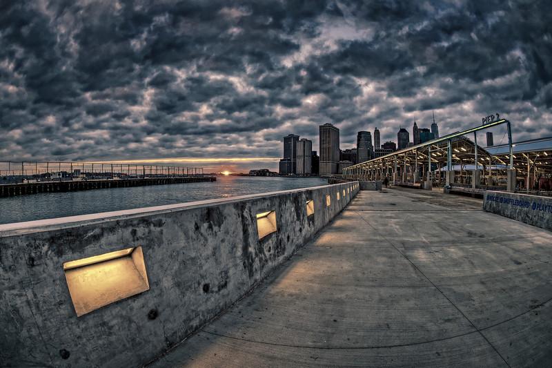 Pier 2 Sunset, Brooklyn