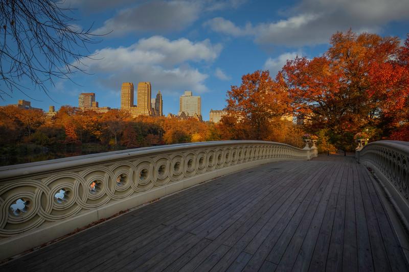 Looking Across Bow Bridge, Central Park