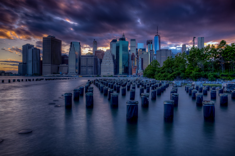 Sunset, Manhattan Skyline, New York