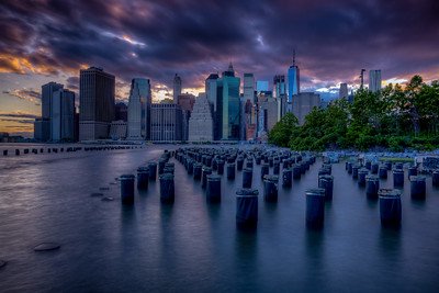 Sunset, Manhattan Skyline