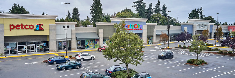 Aerial view of Federal Way shopping center.
