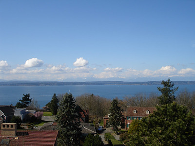 West side view of Puget Sound