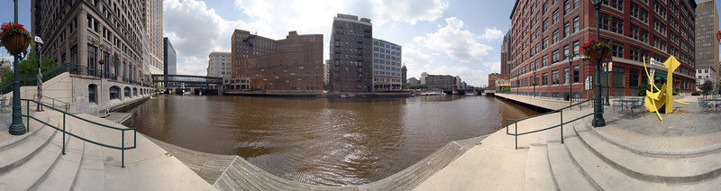 Milwaukee Riverwalk Panorama