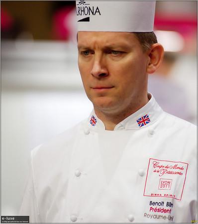 Benoît Blin chef pâtissier du Manoir aux quat'saisons (Oxford, Angleterre) Meilleur Ouvrier d'Angleterre en 2005. UK chef pâtissier de l'année en 2009 par le « Craft Guild of chefs »